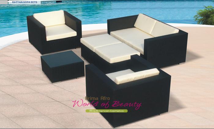 Poly Rattan Lounge BARBADOS Sitzgruppe Gartengarnitur Gartenmöbel